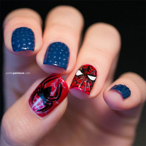 Spider-Man-Nail-Art-Designs-Ideas-Trends-2019-Spider-Man-Nails-7