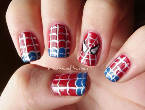 Spider-Man-Nail-Art-Designs-Ideas-Trends-2019-Spider-Man-Nails-8