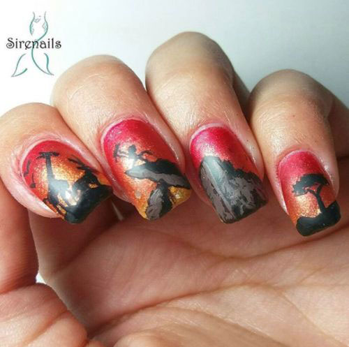 The-Lion-King-Nail-Art-Designs-Ideas-Trends-2019-The-Lion-King-Nails-11