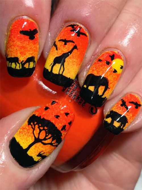 The-Lion-King-Nail-Art-Designs-Ideas-Trends-2019-The-Lion-King-Nails-13