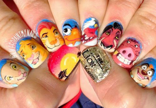 The-Lion-King-Nail-Art-Designs-Ideas-Trends-2019-The-Lion-King-Nails-15