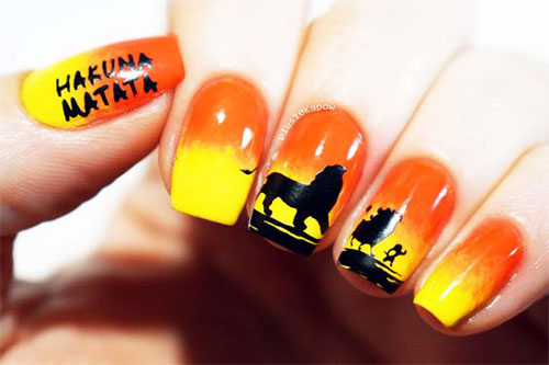 The-Lion-King-Nail-Art-Designs-Ideas-Trends-2019-The-Lion-King-Nails-16