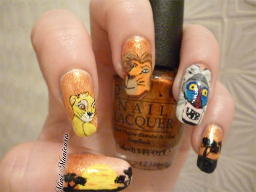 The-Lion-King-Nail-Art-Designs-Ideas-Trends-2019-The-Lion-King-Nails-17