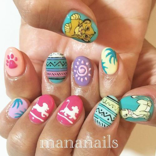 The-Lion-King-Nail-Art-Designs-Ideas-Trends-2019-The-Lion-King-Nails-20