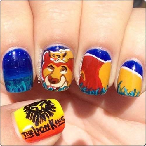The-Lion-King-Nail-Art-Designs-Ideas-Trends-2019-The-Lion-King-Nails-4