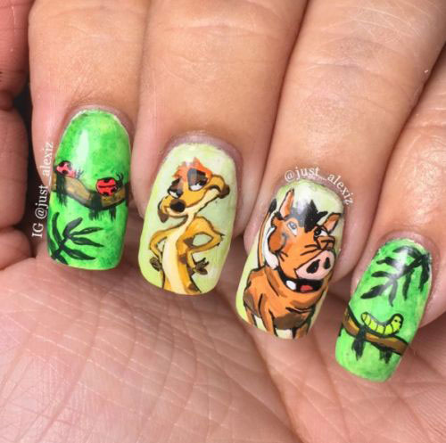 The-Lion-King-Nail-Art-Designs-Ideas-Trends-2019-The-Lion-King-Nails-5