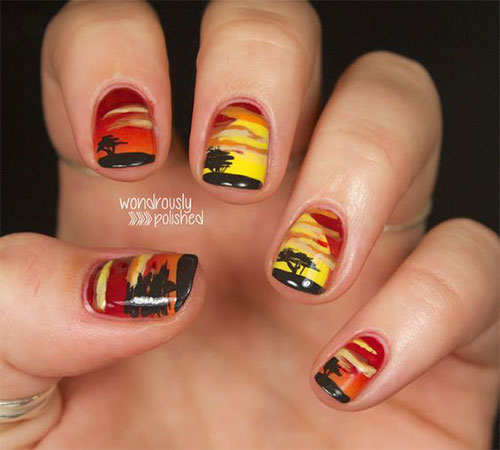 The-Lion-King-Nail-Art-Designs-Ideas-Trends-2019-The-Lion-King-Nails-6