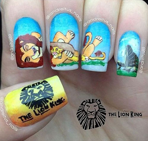 The-Lion-King-Nail-Art-Designs-Ideas-Trends-2019-The-Lion-King-Nails-7