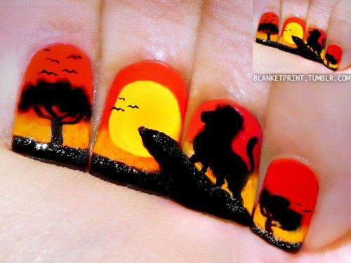 The-Lion-King-Nail-Art-Designs-Ideas-Trends-2019-The-Lion-King-Nails-8