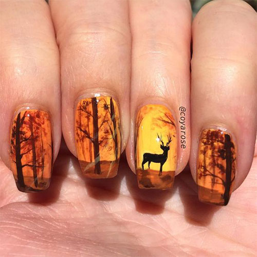 Autumn-Acrylic-Nail-Art-Designs-2019-Fall-Nails-3
