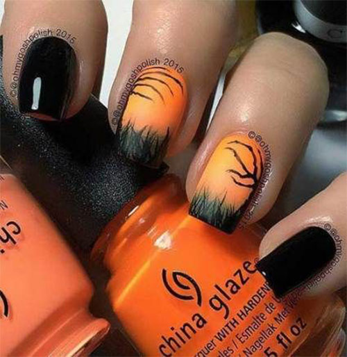 Autumn-Acrylic-Nail-Art-Designs-2019-Fall-Nails-4