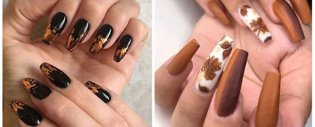 Autumn-Acrylic-Nail-Art-Designs-2019-Fall-Nails-F