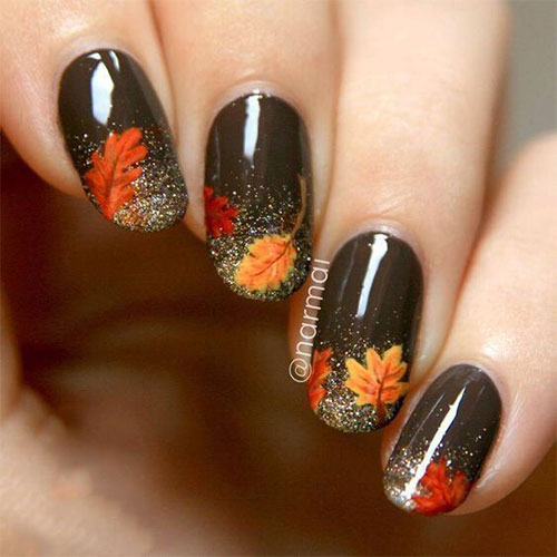 Autumn-Gel Nail-Art-Designs-2019-Fall-Nails-1