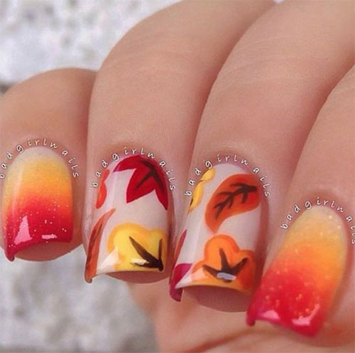 Autumn-Gel Nail-Art-Designs-2019-Fall-Nails-10