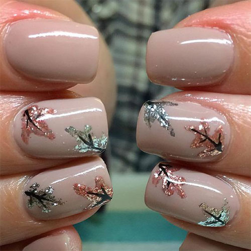 Autumn-Gel Nail-Art-Designs-2019-Fall-Nails-14