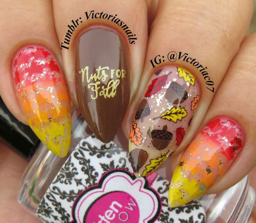 Autumn-Gel Nail-Art-Designs-2019-Fall-Nails-3