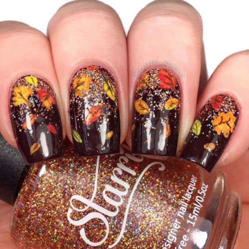 Autumn-Gel Nail-Art-Designs-2019-Fall-Nails-4