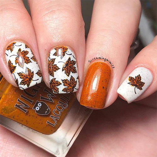 Autumn-Gel Nail-Art-Designs-2019-Fall-Nails-6