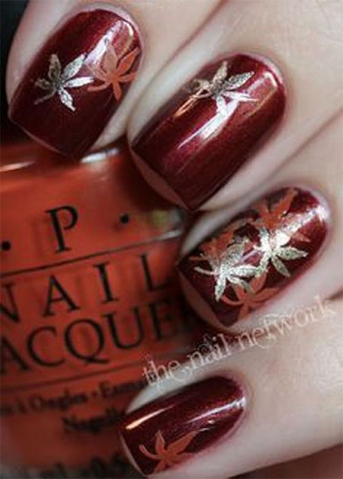 Autumn-Gel Nail-Art-Designs-2019-Fall-Nails-8