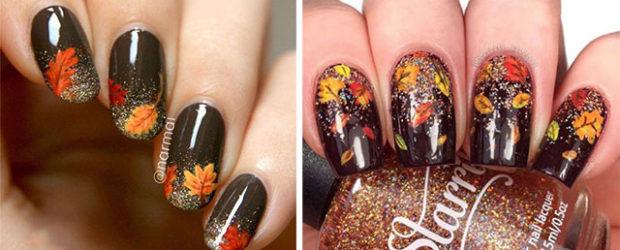 Autumn-Gel Nail-Art-Designs-2019-Fall-Nails-F