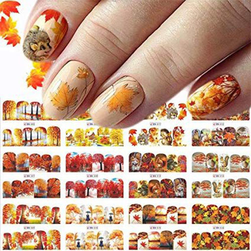 Autumn-Nail-Art-Stickers-Decals-2019-7