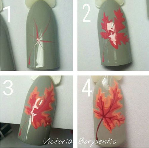 Autumn-Nail-Art-Tutorials-For-Beginners-2019-1