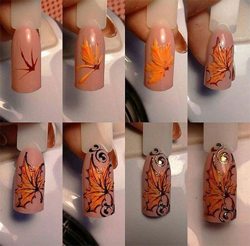 Autumn-Nail-Art-Tutorials-For-Beginners-2019-8