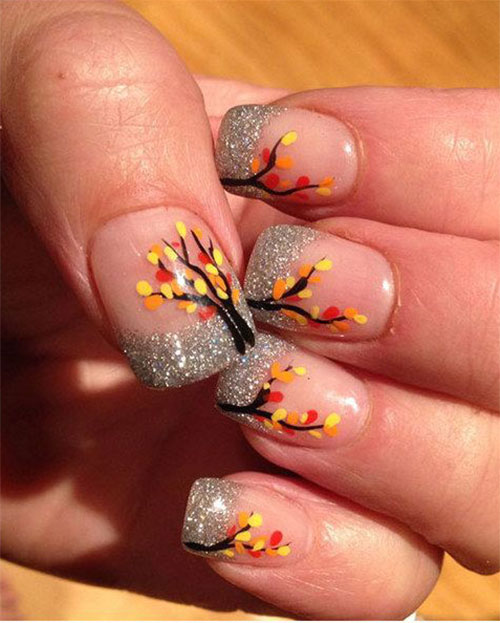 Easy-Fall-Autumn-Nail-Art-Trends-Ideas-2019-13