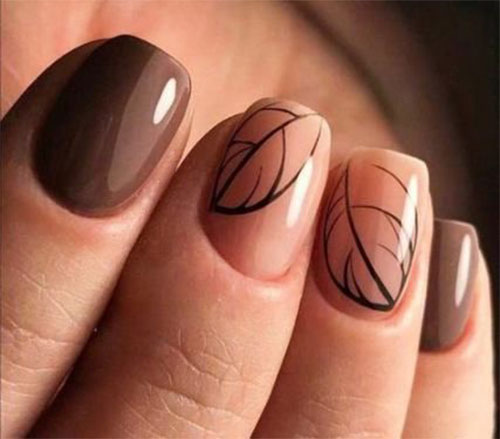 Easy-Fall-Autumn-Nail-Art-Trends-Ideas-2019-14