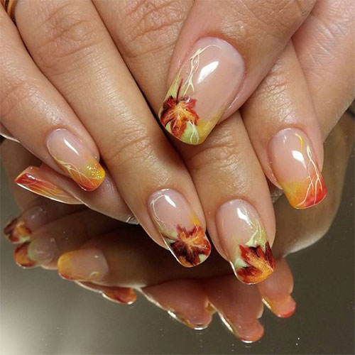 Easy-Fall-Autumn-Nail-Art-Trends-Ideas-2019-7