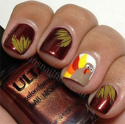 Easy-Simple-Thanksgiving-Nail-Art-Designs-2019-11
