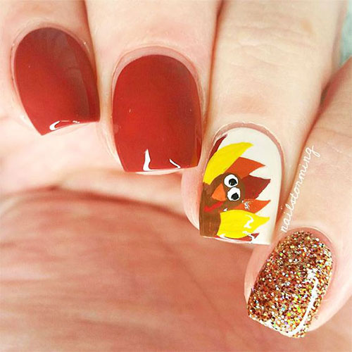 Easy-Simple-Thanksgiving-Nail-Art-Designs-2019-7