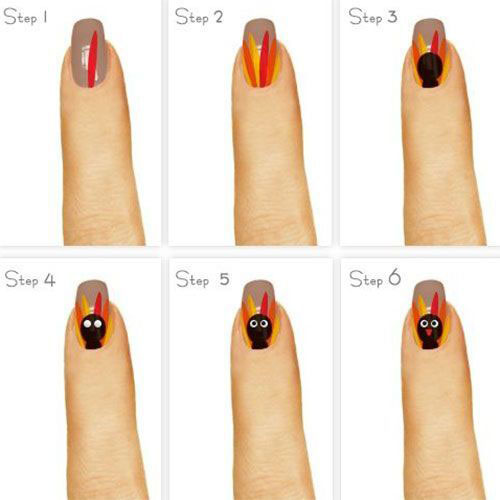 Step-By-Step-Thanksgiving-Nail-Art-Tutorials-2019-4
