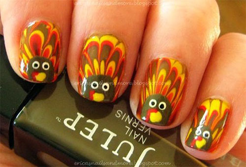 Turkey-Nail-Art-Designs-Ideas-2019-Thanksgiving-Nails-1