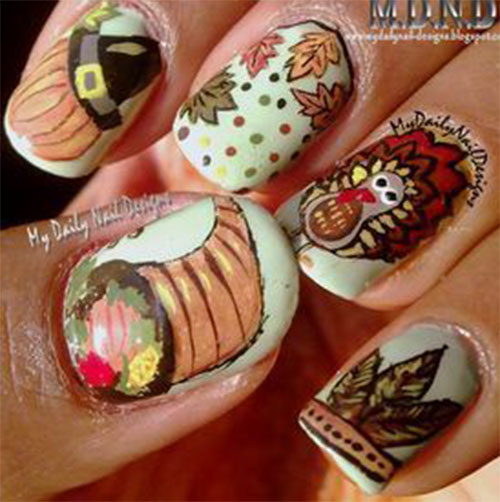 Turkey-Nail-Art-Designs-Ideas-2019-Thanksgiving-Nails-11