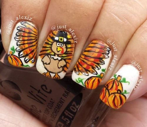 Turkey-Nail-Art-Designs-Ideas-2019-Thanksgiving-Nails-12