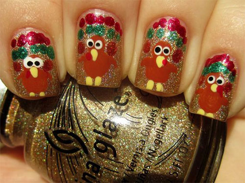 Turkey-Nail-Art-Designs-Ideas-2019-Thanksgiving-Nails-14