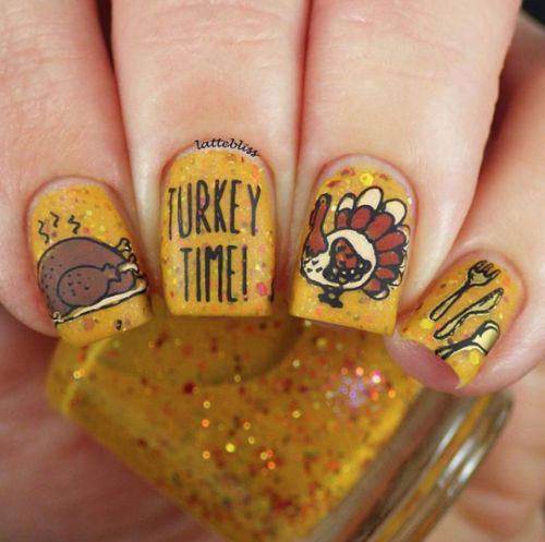 Turkey-Nail-Art-Designs-Ideas-2019-Thanksgiving-Nails-3