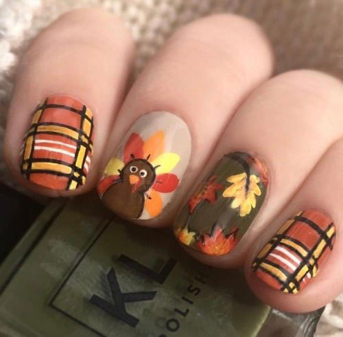Turkey-Nail-Art-Designs-Ideas-2019-Thanksgiving-Nails-4