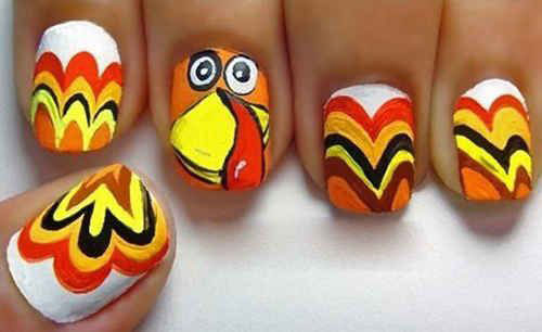 Turkey-Nail-Art-Designs-Ideas-2019-Thanksgiving-Nails-7
