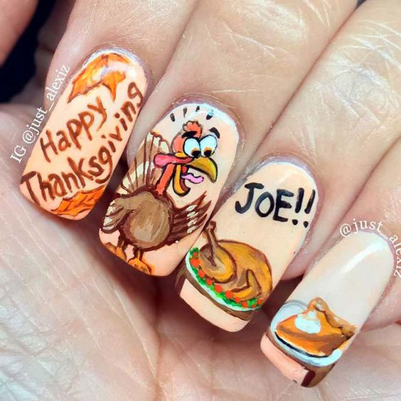 Turkey-Nail-Art-Designs-Ideas-2019-Thanksgiving-Nails-9