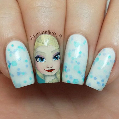 30-Disney-Frozen-Nails-Art-Designs-2019-13