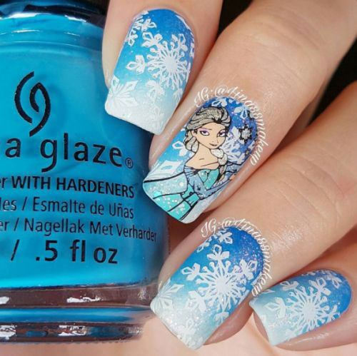 30-Disney-Frozen-Nails-Art-Designs-2019-15