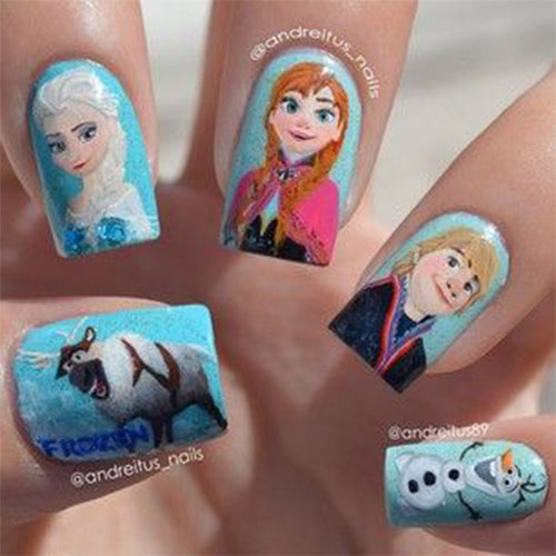 30-Disney-Frozen-Nails-Art-Designs-2019-24