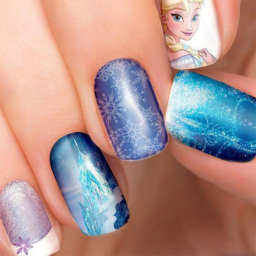 30-Disney-Frozen-Nails-Art-Designs-2019-25