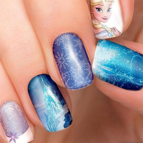 30-Disney-Frozen-Nails-Art-Designs-2019-25