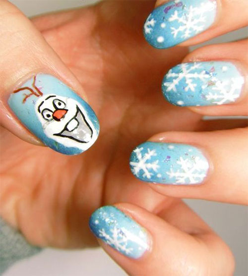 30-Disney-Frozen-Nails-Art-Designs-2019-3