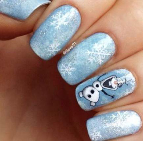 30-Disney-Frozen-Nails-Art-Designs-2019-5