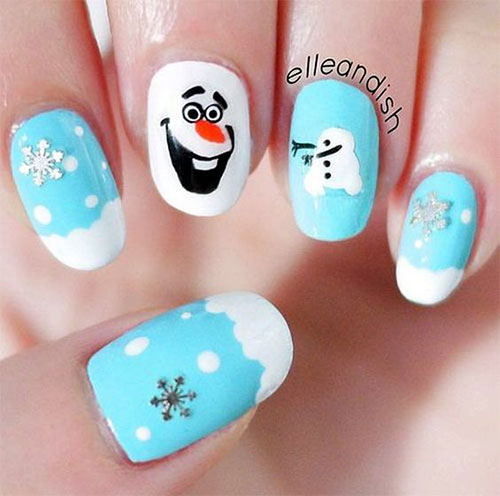 30-Disney-Frozen-Nails-Art-Designs-2019-6