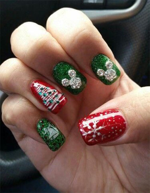 Christmas-Disney-Nails-Art-Designs-2019-12